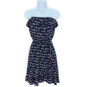 Lilly Pulitzer Flor Navy Oh Buoy Strapless Dress